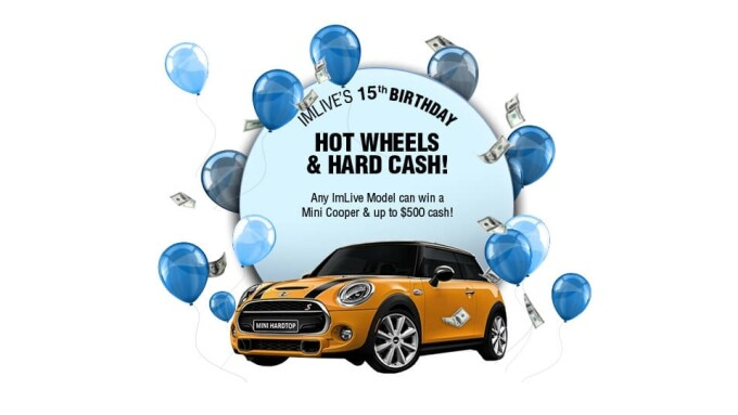 ImLive Celebrates 15-Year Anniversary With Mini-Cooper Giveaway