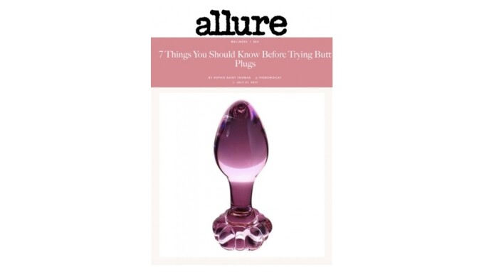Pipedream's Icicles Plugs Featured in Allure, Women's Press