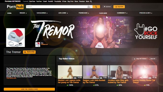 The Tremor 'Rock & Roll Sex Toy' Launches PornHub Channel
