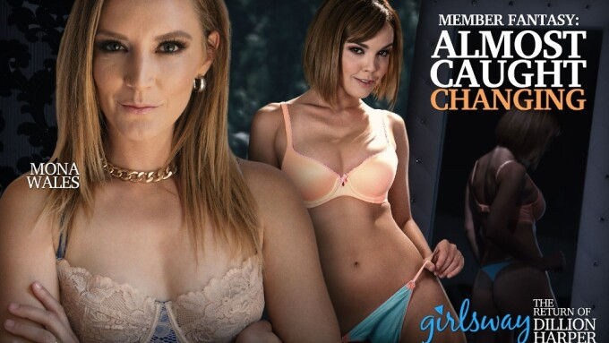 Girlsway Releases 'Almost Caught Changing,' Starring Dillion Harper