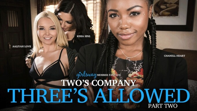 Girlsway Introduces 'Two's Company, Three's Allowed' Series