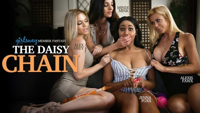 Girlsway Debuts New Mommy's Girl Scene, 'The Daisy Chain'