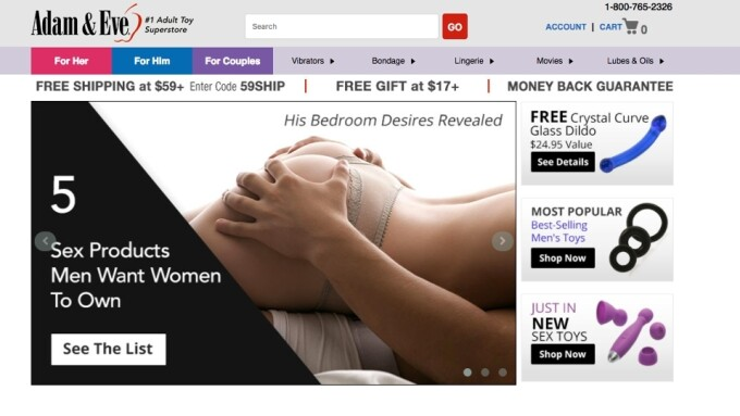 AdamAndEve.Com Expands Reach With International Shopping Cart