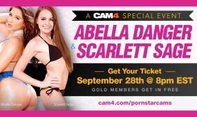 Abella Danger, Scarlett Sage in CAM4 Special Event