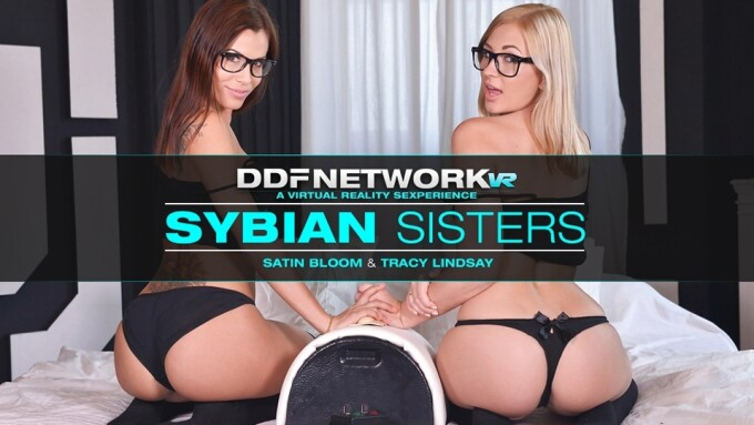 DDF Network VR Debuts 'Sybian Sisters' Starring Satin Bloom, Tracy Lindsay