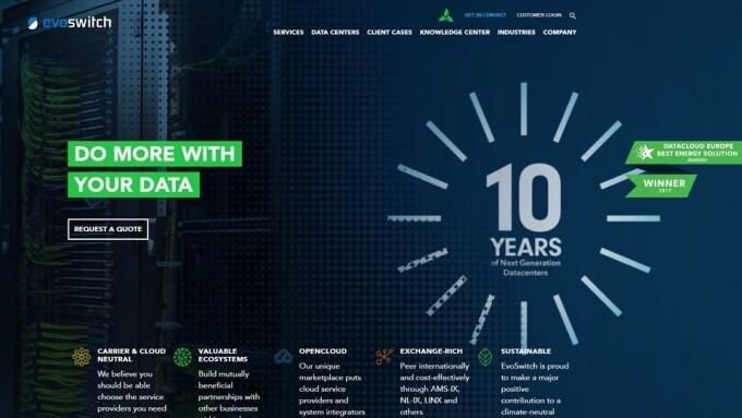 EvoSwitch Celebrates 10th Anniversary With Corporate Rebrand