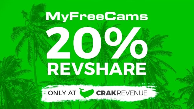 CrakRevenue Offers 20% Payouts on MyFreeCams
