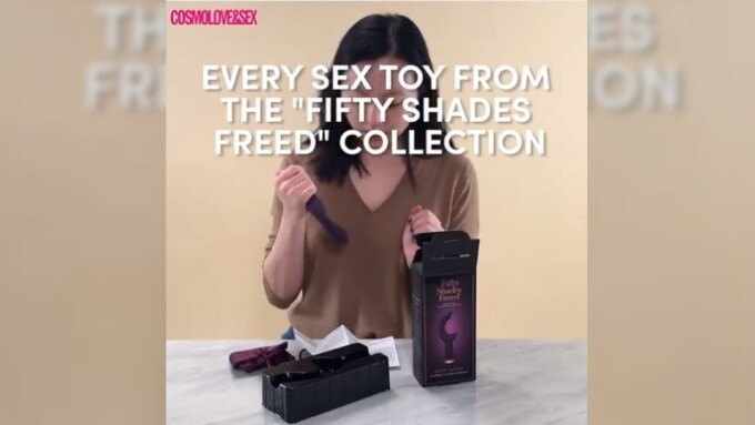 Lovehoney's Fifty Shades Freed Collection Featured in Cosmopolitan Video