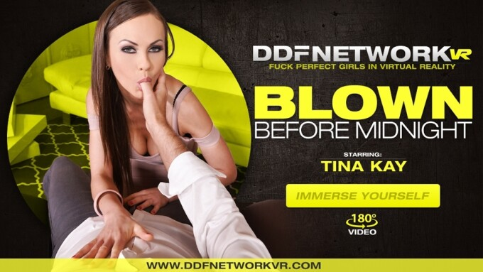 Tina Kay Stars in DDF Network VR's 'Blown Before Midnight'