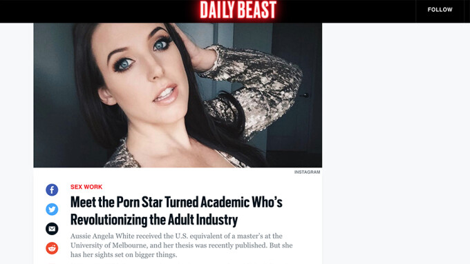 Angela White Profiled in Daily Beast Interview