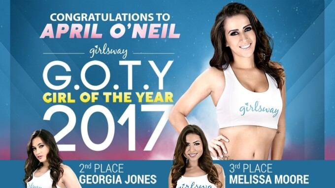 April O'Neil Named 2017 Girlsway Girl of the Year