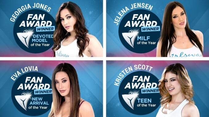 Girlsway Announces 2017 Fan Awards Winners