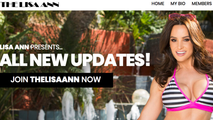 Lisa Ann Relaunches Official Site Powered by Elevated X