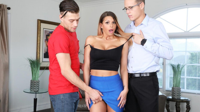 Brooklyn Chase's 1st DP on Blackmailed.com
