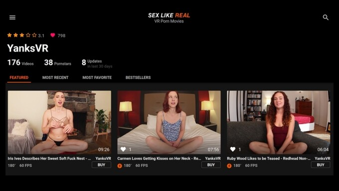 YanksVR Offers 50 Clips Under $1 on SexLikeReal