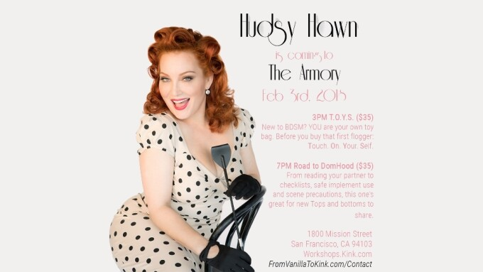 Hudsy Hawn to Teach 2 Classes at the Armory Next Month