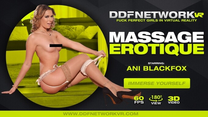 Ani Blackfox Performs in DDF Network VR's 'Massage Erotique'