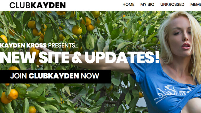 Kayden Kross Relaunches Official Site Powered by Elevated X