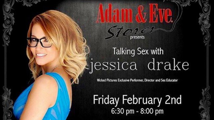 Jessica Drake to Give Sex Talk at  Adam & Eve Store in Oklahoma City
