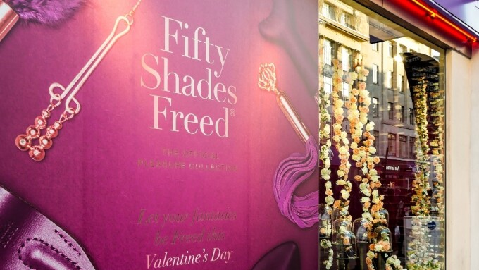 Lovehoney, Harmony Team Up for 'Fifty Shades Freed' Window Display