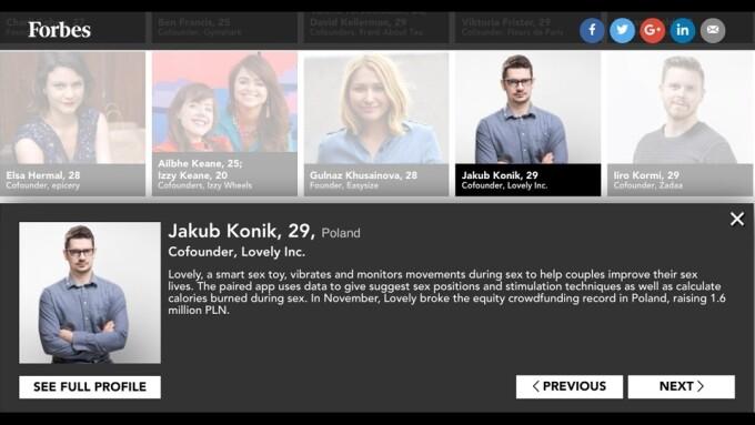 Lovely CEO Jakub Konik Among Forbes' '30 Under 30'
