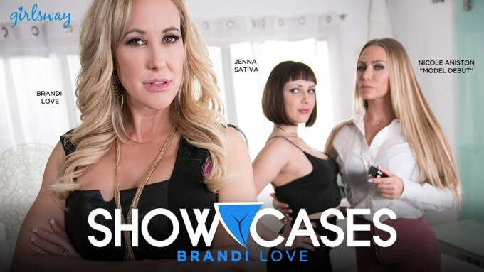 Brandi Love Stars in Girlsway's Latest 'Showcases' Scene