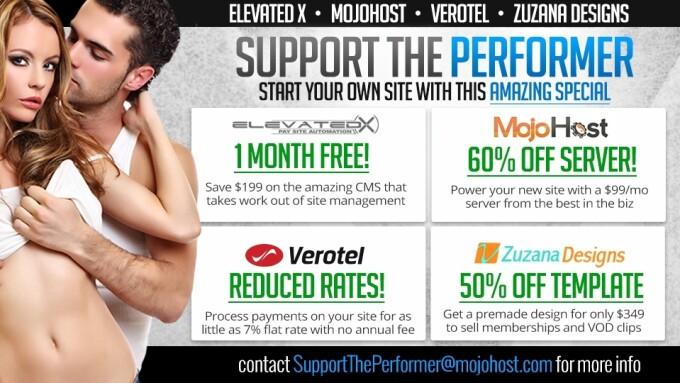 Elevated X, MojoHost, Verotel, Zuzana Offer Performer Promo