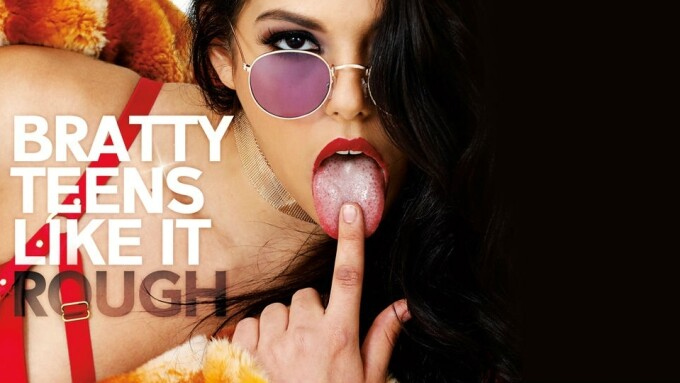 Gina Valentina Stars in Burning Angel's 'Bratty Teens Like It Rough'