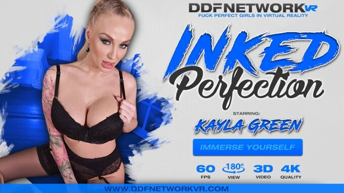 Kayla Green Stars in DDF Network VR's 'Inked Perfection'
