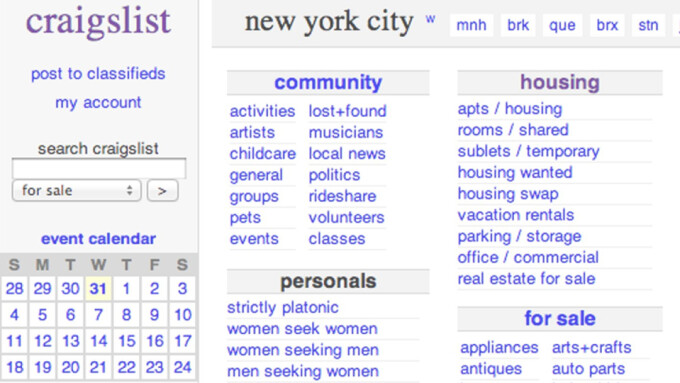 Craigslist 'Personals' Listings Disappear After SESTA Approval