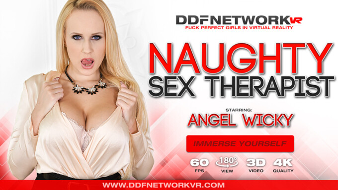 Angel Wicky Stars in DDF Network VR's 'Naughty Sex Therapist'