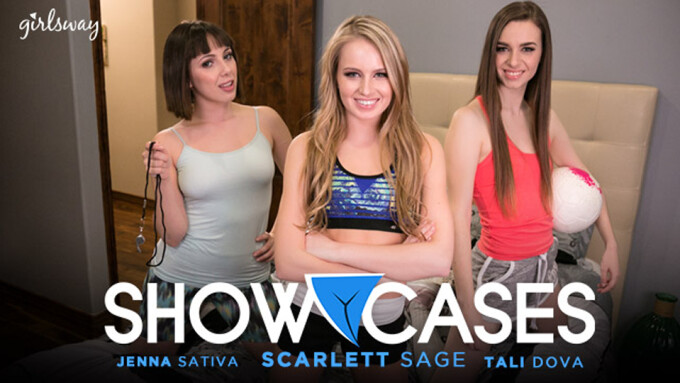 Scarlett Sage, Jenny Sativa, Tali Dova Star in Newest Girlsway 'Showcases'