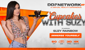 Suzy Rainbow Bakes in DDF Network VR's 'Cupcakes With Suzy'
