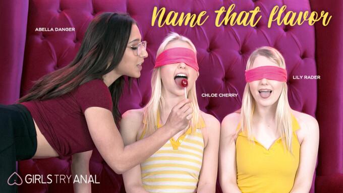 Chloe Cherry, Lily Rader Taste Abella Danger in Girlsway's 'Name That Flavor'