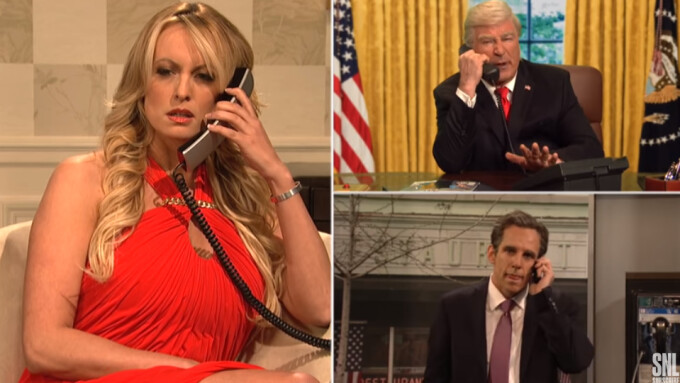 Video: Stormy Daniels Appears on 'Saturday Night Live'