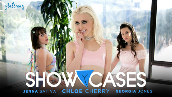Girlsway Debuts Chloe Cherry's 'Showcases' Scene