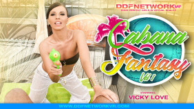 Vicky Love Stars in DDF Network VR's 'Cabana Fantasy'