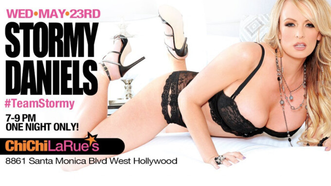 Stormy Daniels to Appear Tomorrow Night at Chi Chi LaRue's West Hollywood store
