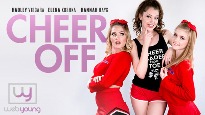 Elena Koshka, Hannah Hays, Hadley Viscara Star in Girlsway's 'Cheer Off'