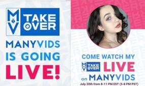 Lydia Love Hosting ManyVids Takeover Tonight