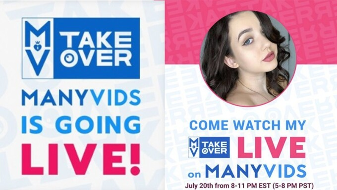 Lydia Love Hosting ManyVids Takeover Tonight