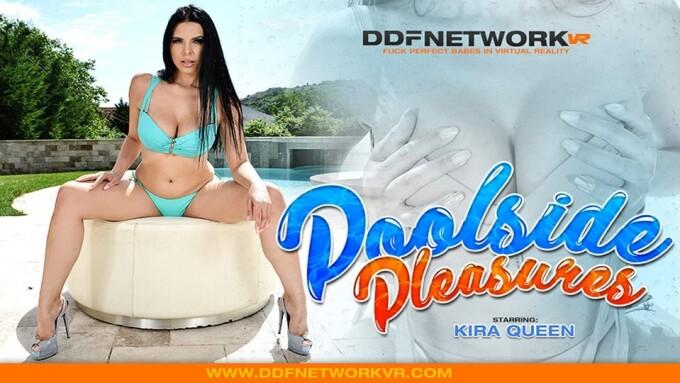 Kira Queen Rocks 'Poolside Pleasures' on DDFNetwork VR