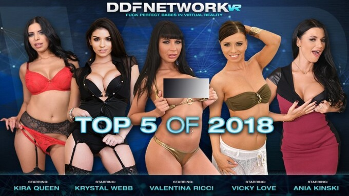 DDFNetwork VR Lists 'Top 5 Most Viewed VR Scenes of 2018'