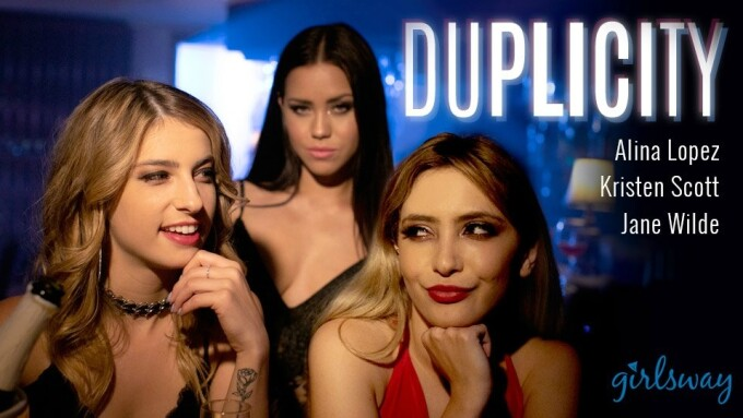 Kristen Scott, Alina Lopez, Jane Wilde Star in Girlsway's 'Duplicity'