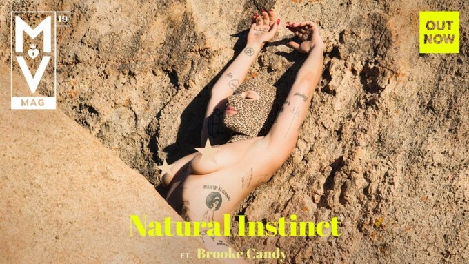 Brooke Candy Scores Cover of ManyVids Mag