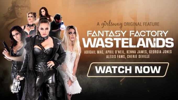 Kenna James Is Sexbot in Girlsway's 4-Part 'Fantasy Factory: Wastelands'