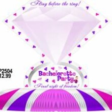 Bachelorette Diamond Shaped Table Centerpiece