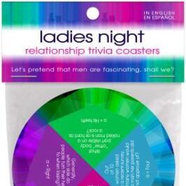 Ladies Night Relationship Trivia Coasters