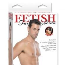 "Fetish Fantasy Series 6"" Double Penetrator Vibrating Hollow Strap-On"
