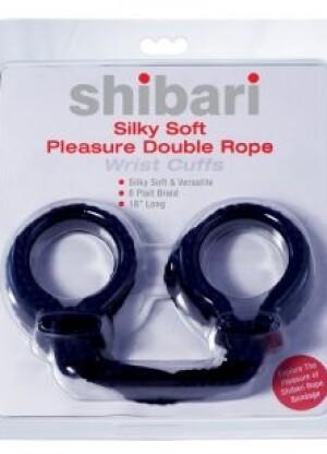 Shibari Silky Soft Pleasure Double Rope Wrist Cuffs